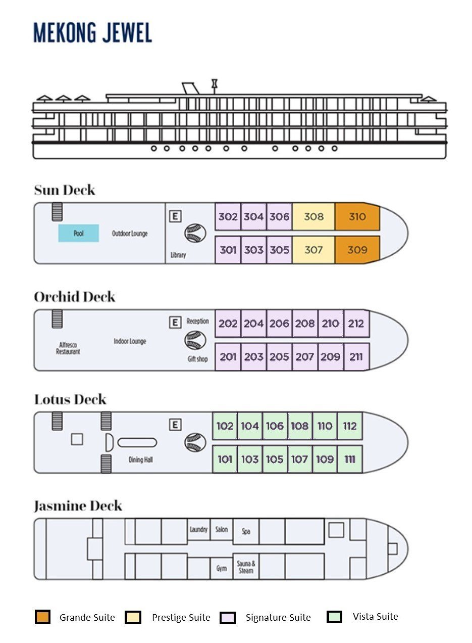 Mekong Jewel deck plan